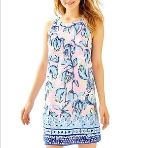 NWT Lilly Pulitzer Jackie Silk Shift Dress Sz.Sm